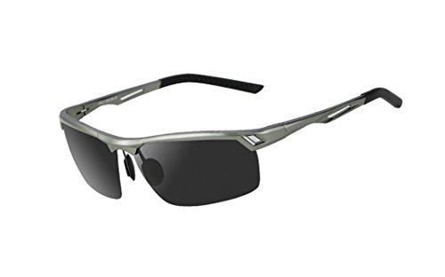 Luoyiman サングラス メンズ 偏光サングラス 度なし偏光 TACレンズ 紫外線 UV カット 超軽量 24g ドライブ 自転車 釣り スポーツ 多用