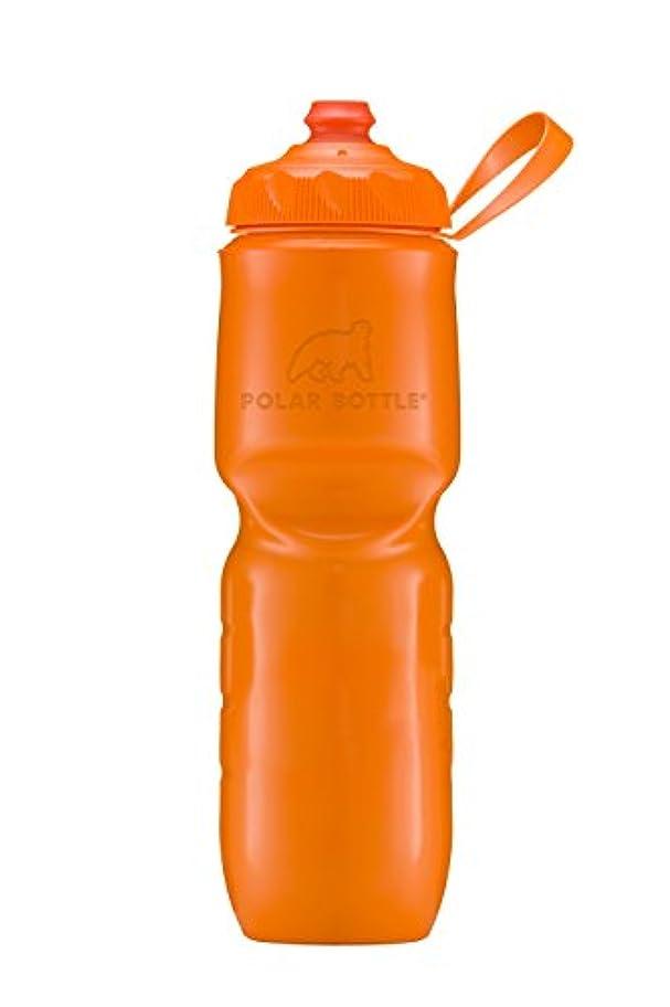 輝くフルーツ野菜批判POLARBOTTLE(ポーラーボトル) 保冷ボトル ジップストリーム 24oz タンジェリン