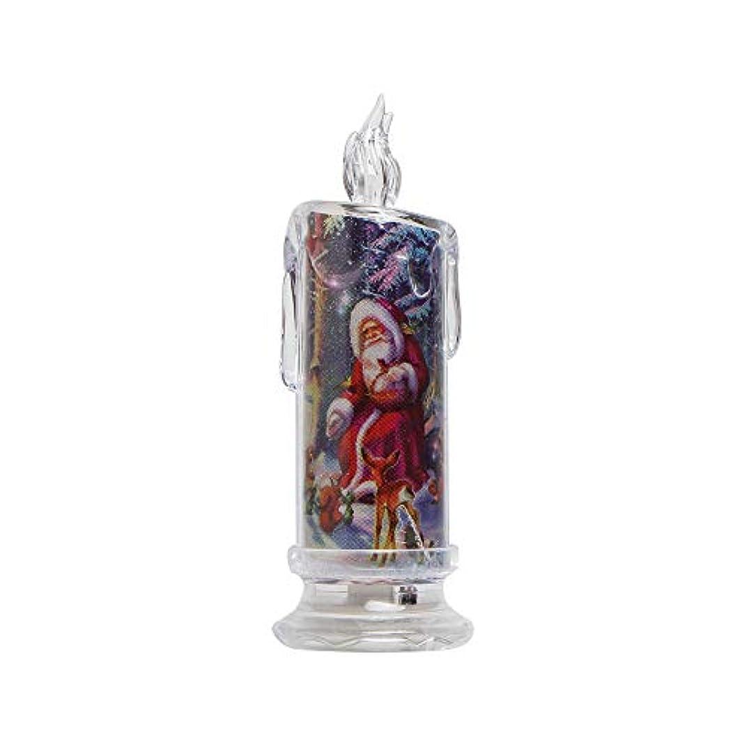男やもめフリル力強いボコダダ(Vocodada)キャンドルライト LED 蝋燭 クリスマス/パーティー クリスマスプレゼント 雰囲気 装飾 3 *のag10m(含めます)5.5×17.5cm 底部のON/OFFスイッチ サンタクロース 雪だるま 鳥 動物 雪の結晶 透明