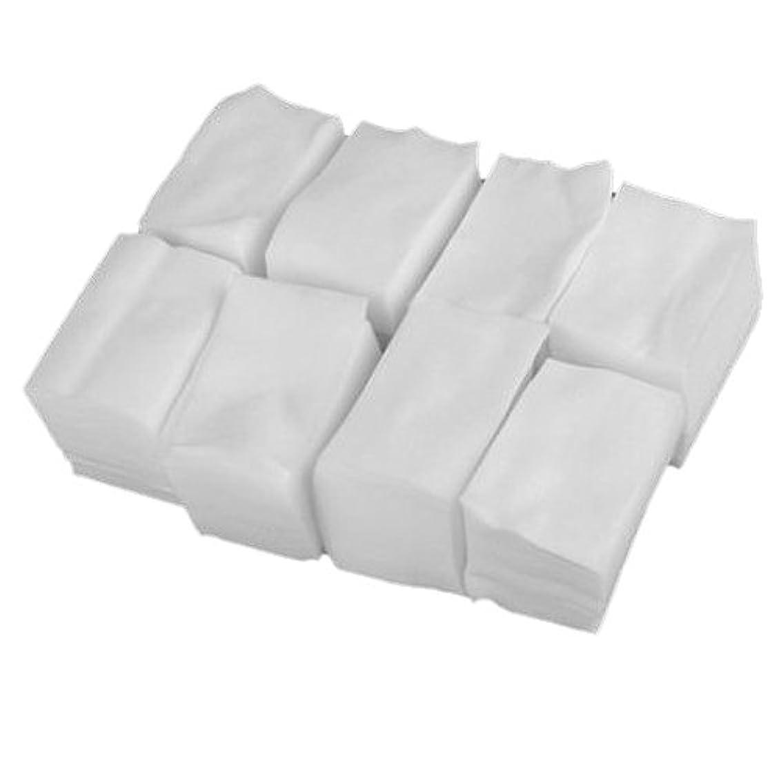 指定するバンドル宮殿SODIAL 900x白いリントフリーネイルアート ワイプ紙パッド ゲルアクリルのヒント ポリッシュリムーバークリーナー(6cm x 5cm)