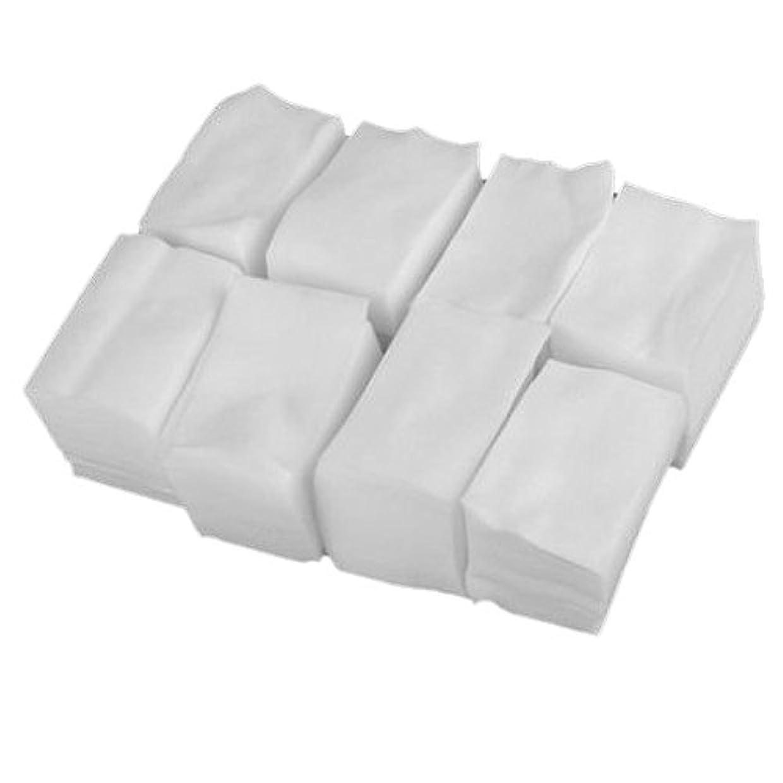 聴覚絞る行列SODIAL 900x白いリントフリーネイルアート ワイプ紙パッド ゲルアクリルのヒント ポリッシュリムーバークリーナー(6cm x 5cm)