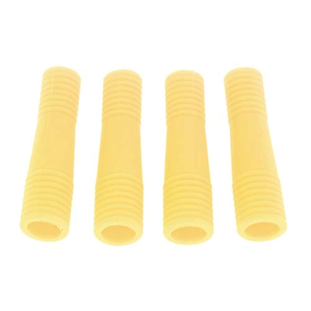 ブリーク獲物ご飯キューティクルニッパー保護カバー アクリルネイル用ツール ネイル道具 ケアツール 全5色 - 黄