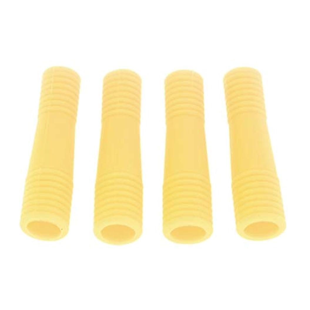 おもちゃゆでる基本的なキューティクルニッパー保護カバー アクリルネイル用ツール ネイル道具 ケアツール 全5色 - 黄