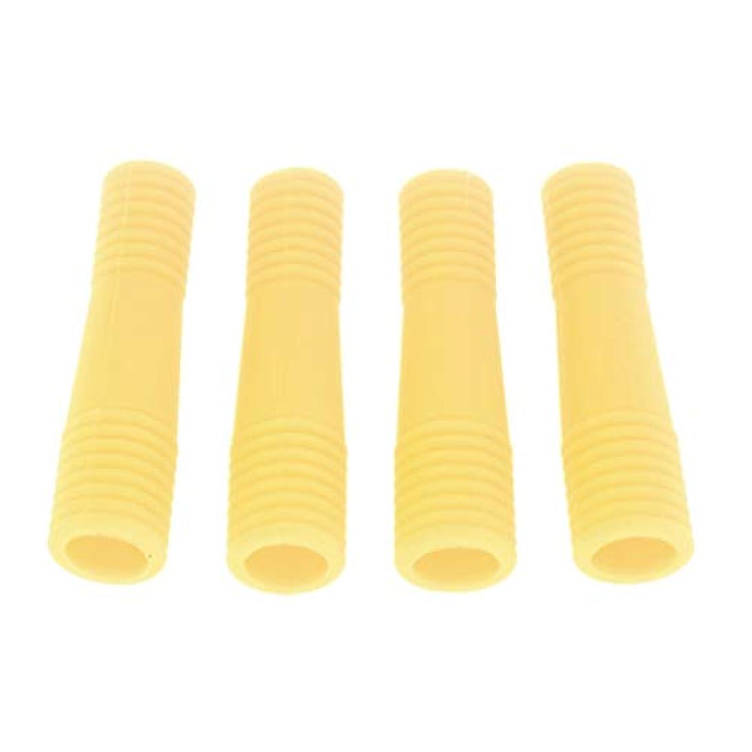 ピカリング遵守する作りCUTICATE キューティクルニッパー保護カバー アクリルネイル用ツール ネイル道具 ケアツール 全5色 - 黄