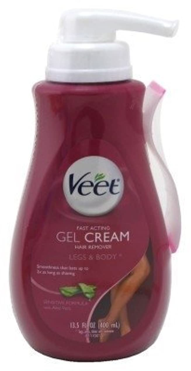 ひらめき移住するボトルVeet Gel Cream Hair Remover 13.52oz Pump (Sensitive) (3 Pack) [並行輸入品]