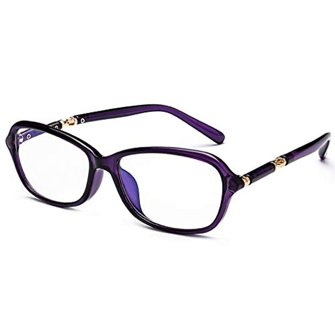 LCSHAN ブルーレイニアアンドファーデュアルユース老眼鏡自動ズームファッションウルトラライト+2.0 (Color : Purple, Size : 350 degrees)