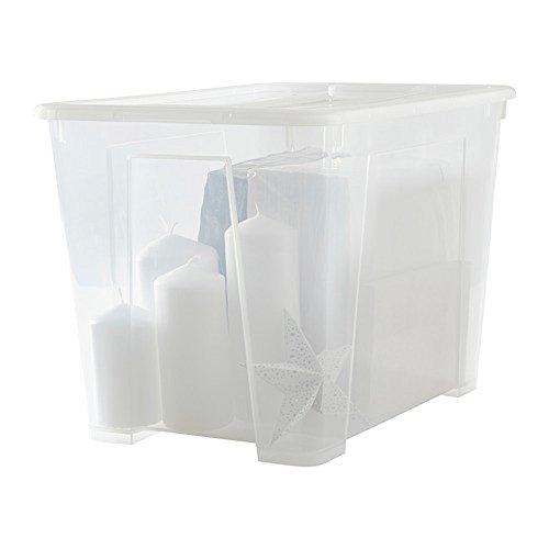 IKEA/イケア SAMLA ふた付きボックス, 透明898.914.70