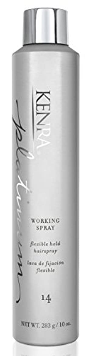 絞る凍った群衆by Kenra PLATINUM WORKING SPRAY # 14 10 OZ by KENRA