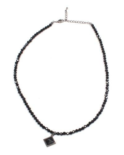(スペイド) SPADE ネックレス メンズ ブラックスピネル スタッズ 天然石 ペンダント チャーム【W005】