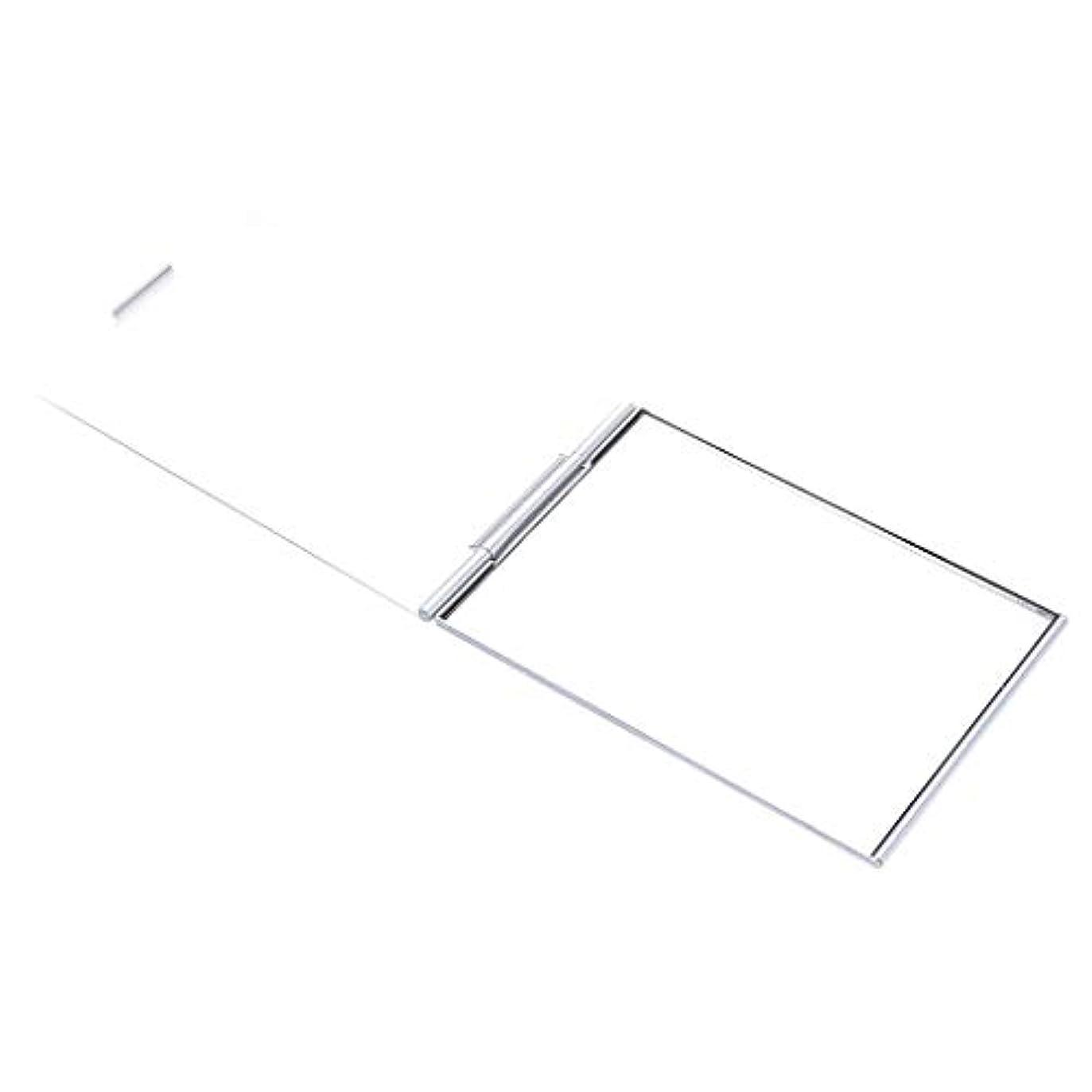鉛影きちんとした化粧鏡 メイクアップミラー ポケットミラー スクエア メイクアップ 化粧 全2サイズ - 4