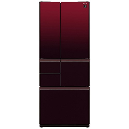 シャープ 冷蔵庫 メガフリーザー プラズマクラスター搭載 551L グラデーションレッド SJ-GT55C-R