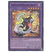 遊戯王 英語版・北米版  紫 CHIMERATECH RAMPAGE(SR)(1st)(キメラテックランページドラゴン