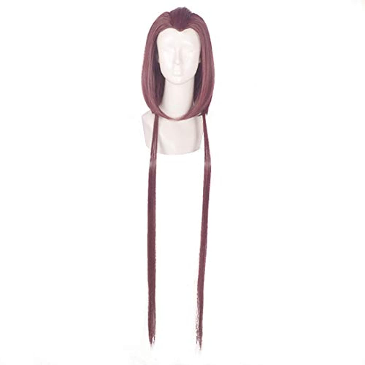 インタフェースシャンプー今日JIANFU コスプレウィッグパープル美容ヒントモデリングウィッグアニメキャラクター「コールドスモークソフト」ウィッグ (Color : Purple)