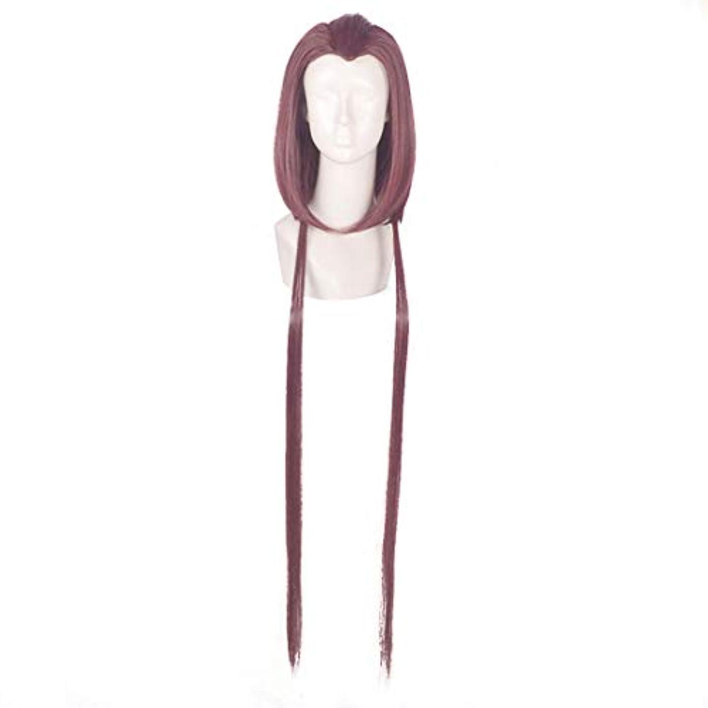 仕えるクレーンやけどJIANFU コスプレウィッグパープル美容ヒントモデリングウィッグアニメキャラクター「コールドスモークソフト」ウィッグ (Color : Purple)