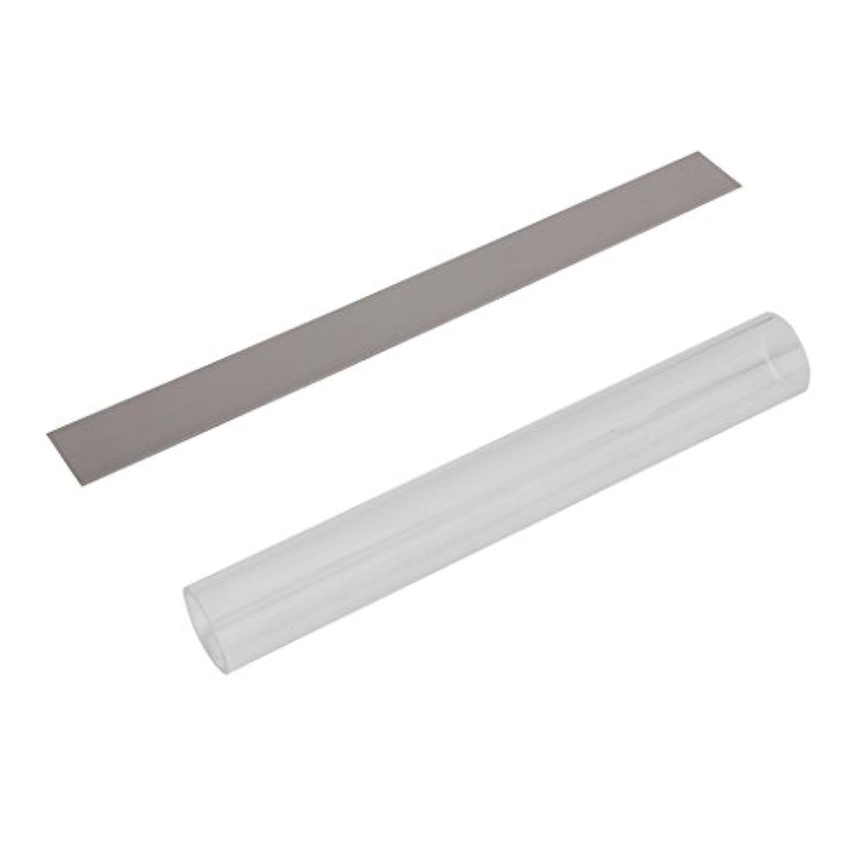 Perfk ステンレス DIYクレイ カッター カッティング 粘土ツール 切削用 ローラー  2点セット