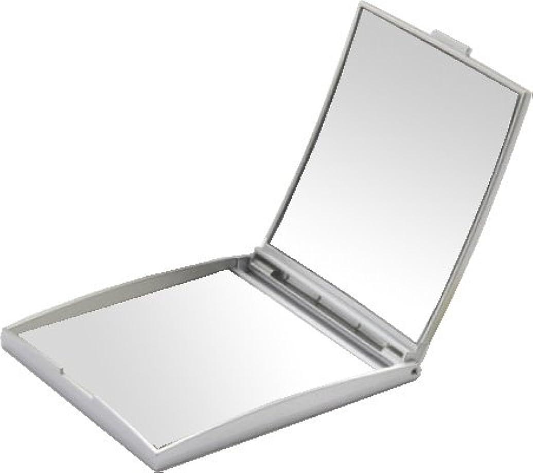 有限モトリー胃メリー 片面約5倍拡大鏡付コンパクトミラー Sサイズ シルバー AD-105