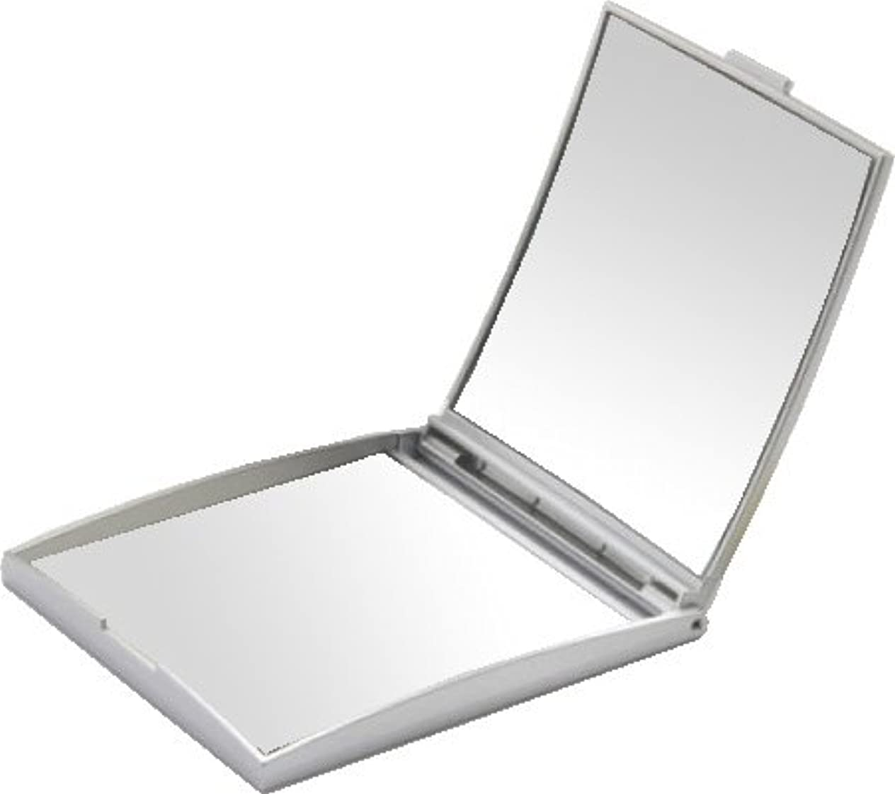 ナースセラーだらしないメリー 片面約5倍拡大鏡付コンパクトミラー Sサイズ シルバー AD-105