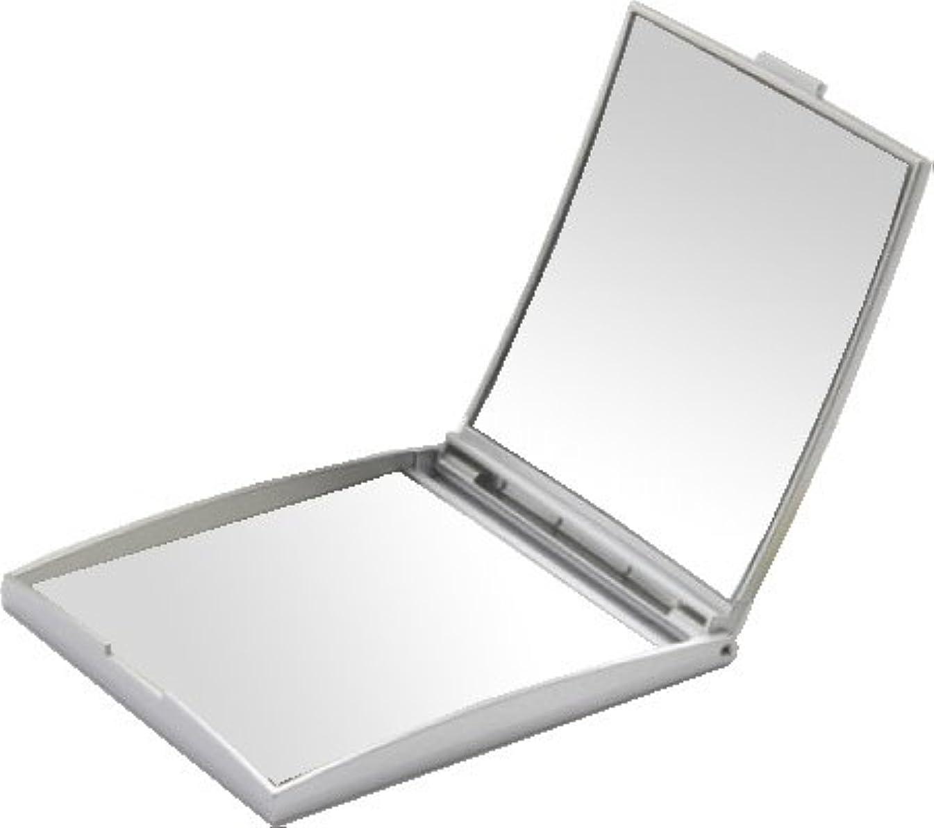 講師作り上げる昼間メリー 片面約5倍拡大鏡付コンパクトミラー Sサイズ シルバー AD-105