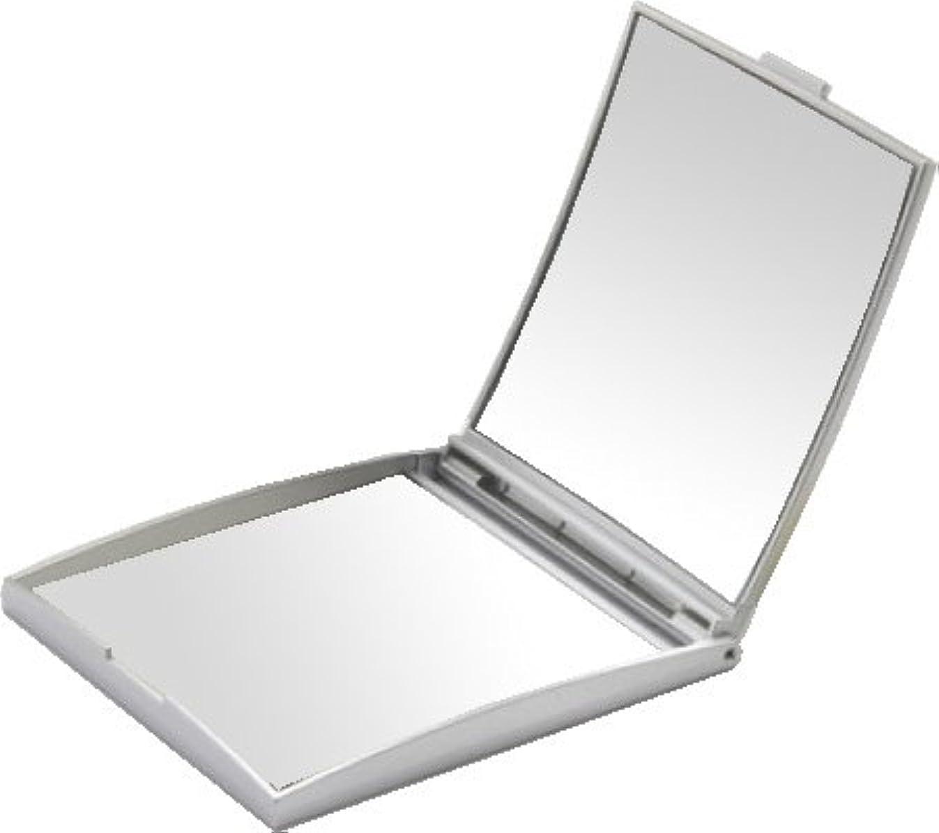 アノイムス道徳メリー 片面約5倍拡大鏡付コンパクトミラー Sサイズ シルバー AD-105