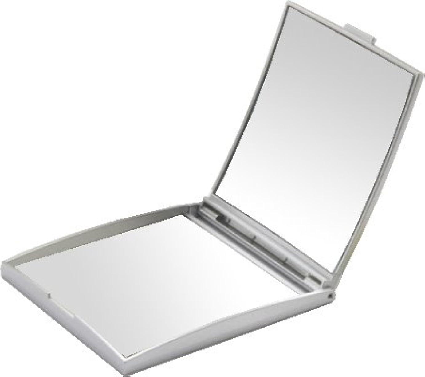 真剣にほかに超音速メリー 片面約5倍拡大鏡付コンパクトミラー Sサイズ シルバー AD-105