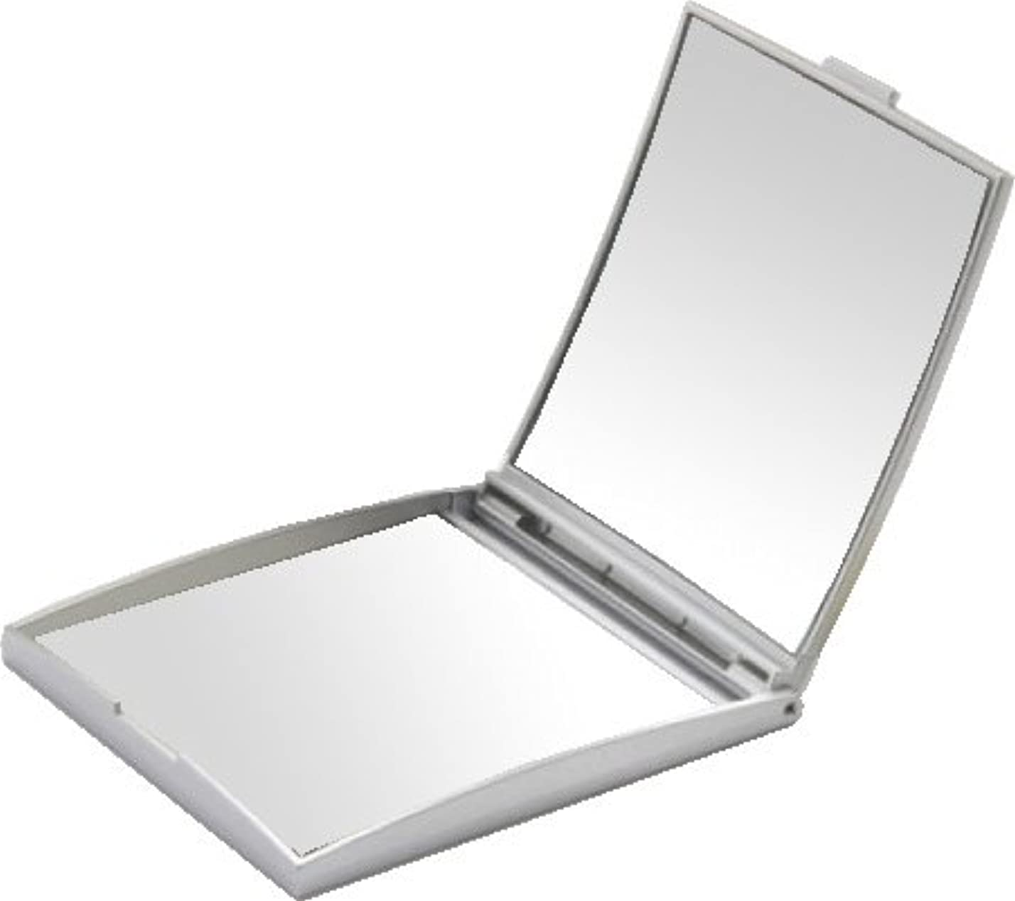 乳製品作り訴えるメリー 片面約5倍拡大鏡付コンパクトミラー Sサイズ シルバー AD-105
