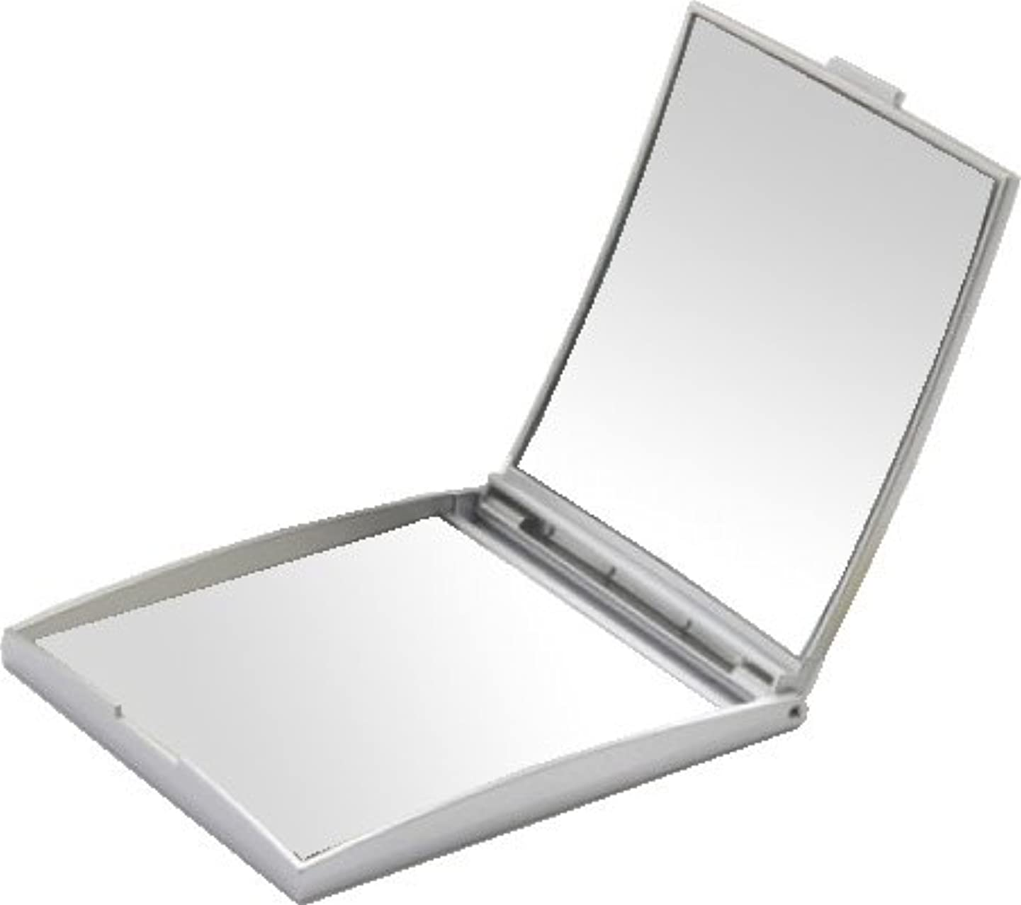 シソーラス伝導反発メリー 片面約5倍拡大鏡付コンパクトミラー Sサイズ シルバー AD-105