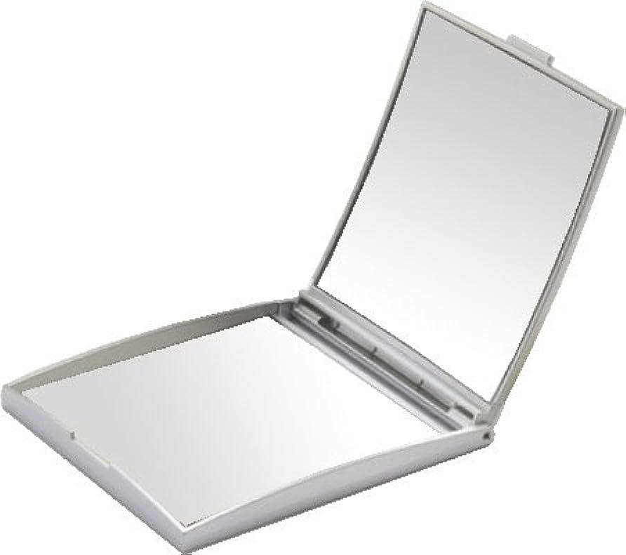 うま収容する心理的メリー 片面約5倍拡大鏡付コンパクトミラー Sサイズ シルバー AD-105