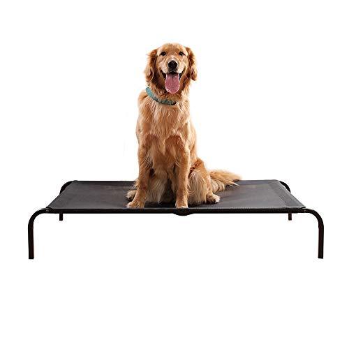 ペットベッド 脚付きコット型 猫/犬ベッド ベッドクッション 耐噛み 耐汚れ素材 室内室外用 通年利用 マット付き 取り外し可 洗える 携帯に便利 組立簡単 (ペットベッド, M)
