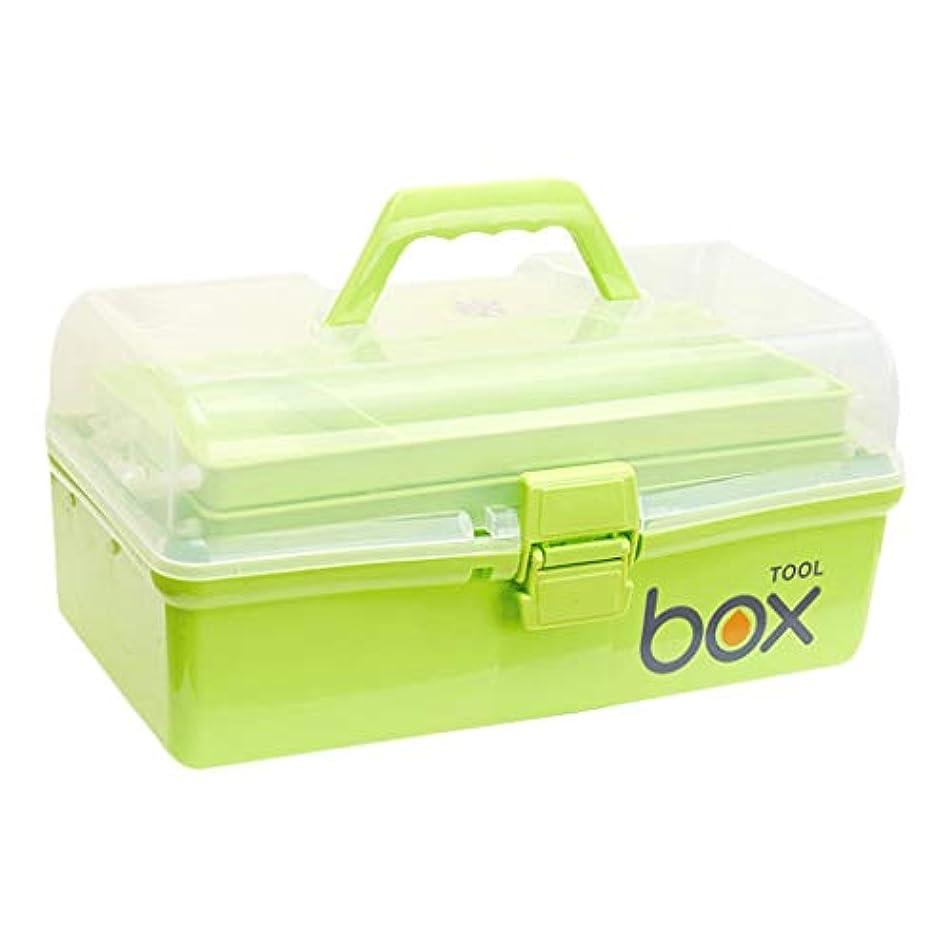 ロケーションとげアレンジピルボックスPP家庭用薬ボックス薬収納ボックス (色 : 緑, サイズ さいず : L30.5cm)