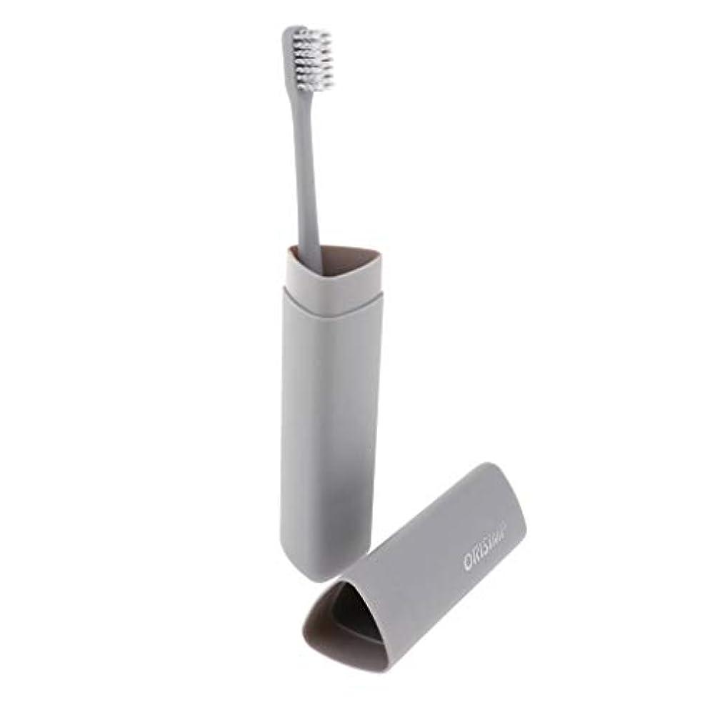 アデレード軸建築家Hellery 大人竹炭繊維歯ブラシソフト剛毛歯ブラシ+ボックス - グレー