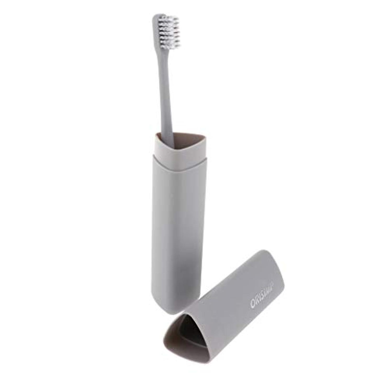 謎スプレーロボットHellery 大人竹炭繊維歯ブラシソフト剛毛歯ブラシ+ボックス - グレー