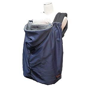 日本エイテックス ユグノー ポケッタブル2WAYケープ 抱っこひもとベビーカーで使える防寒ケープ コンパクトタイプ ネイビー 01-115
