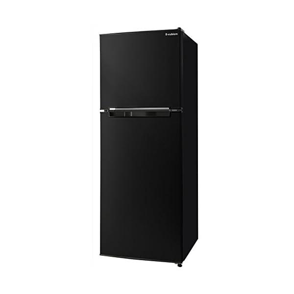 エスキュービズム 2ドア冷蔵庫 ブラック ドア付...の商品画像