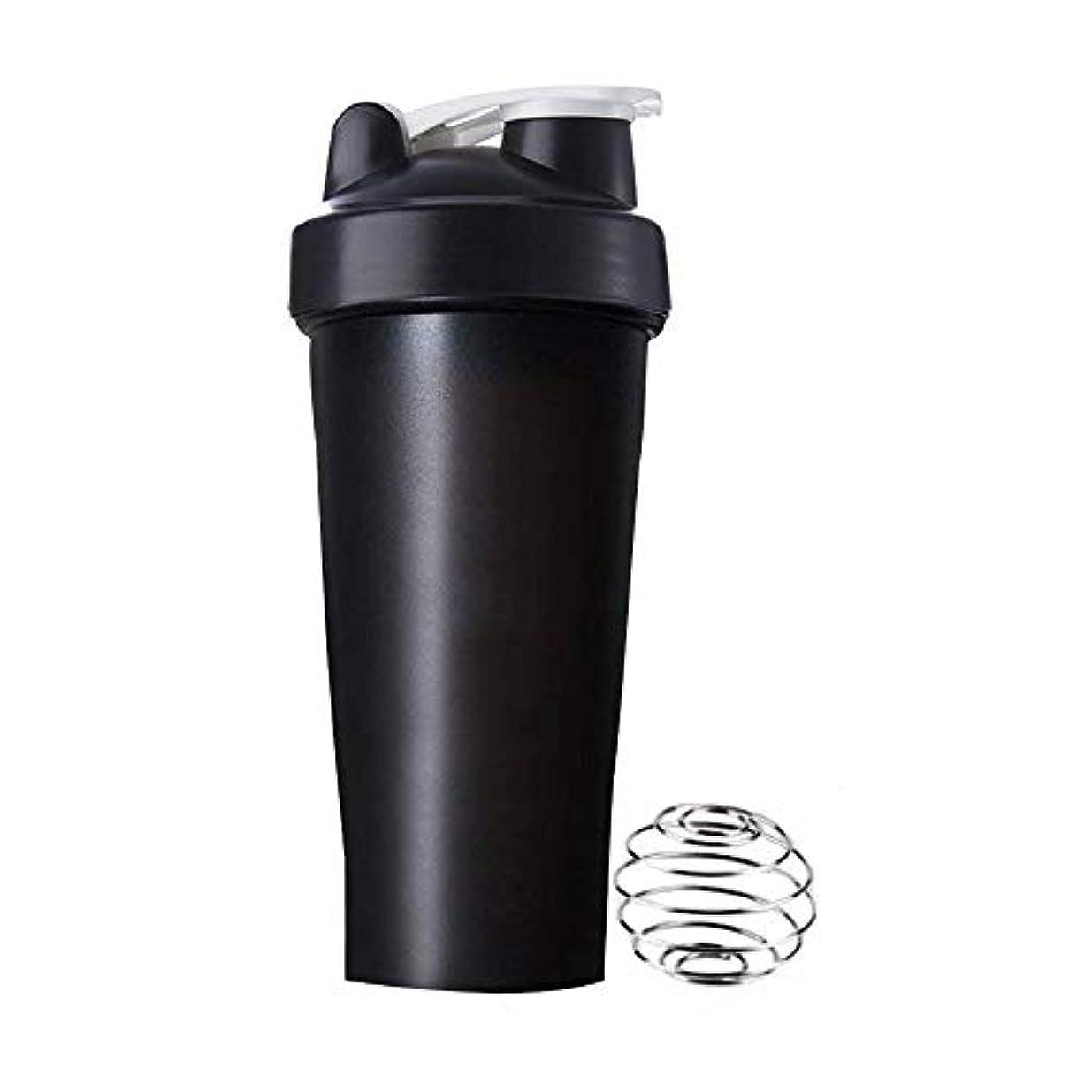 Aomgsd プロテインシェイカー 直飲み プラスチックウォーターボトル ジム シェーカーボトル 600ml