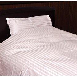 サテンストライプ敷ふとんカバー ダブルサイズ(綿100%/145×215cm/ピンク)