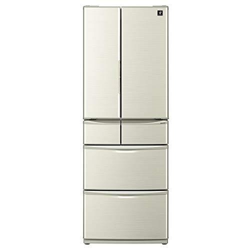 シャープ SHARP プラズマクラスター冷蔵庫(幅65.0cm) 455L 両開き 6ドア(観音開き・フレンチドア) ゴールド...