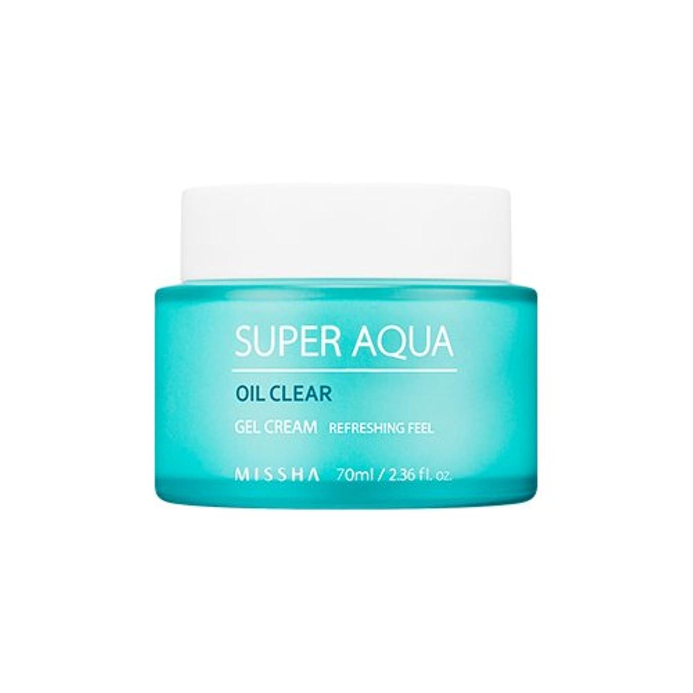 冷える砂漠保証MISSHA Super Aqua Oil Clear Gel Cream 70ml/ミシャ スーパー アクア オイル クリア ジェル クリーム 70ml [並行輸入品]