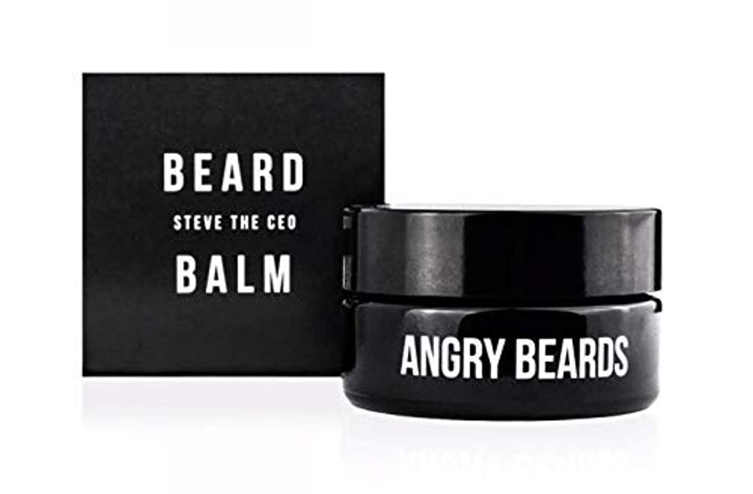 下死傷者選挙Steve The CEO Beard Balm by Angry Beards 30ml / スティーブザCEOビアードバームbyアングリービアード30ml Made in Czech Republic