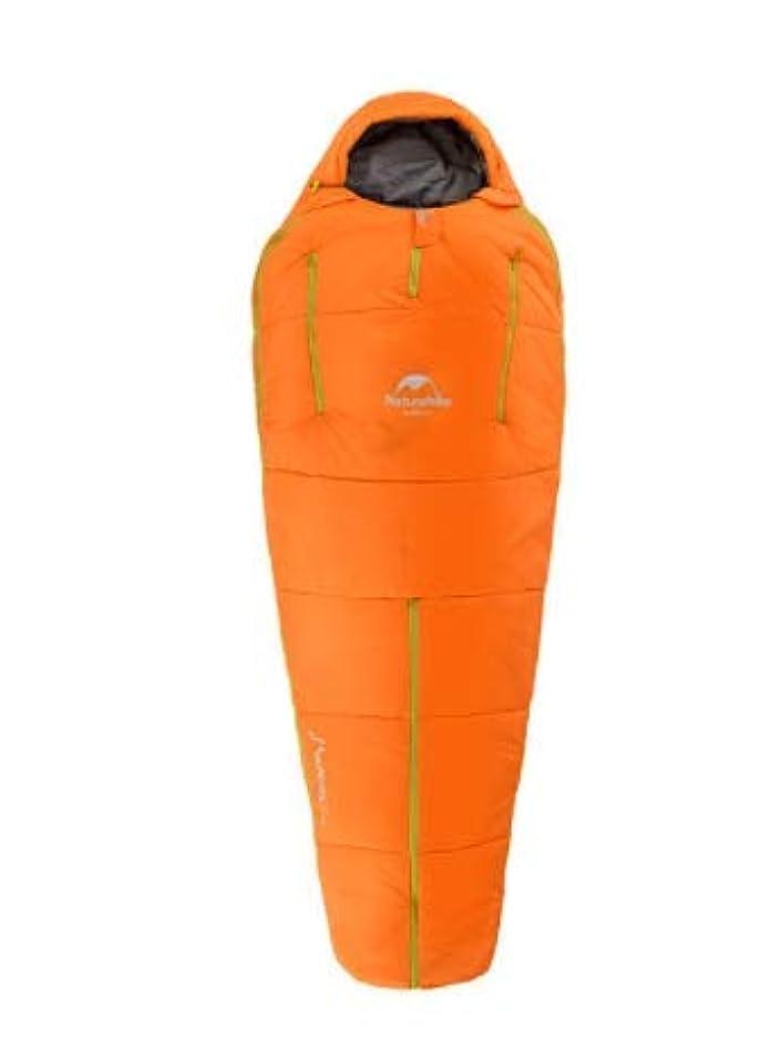 トンネル送料野菜ヒューマノイド寝袋アウトドアキャンプ超軽量暖かい季節綿の寝袋 (Color : Orange, Size : S)
