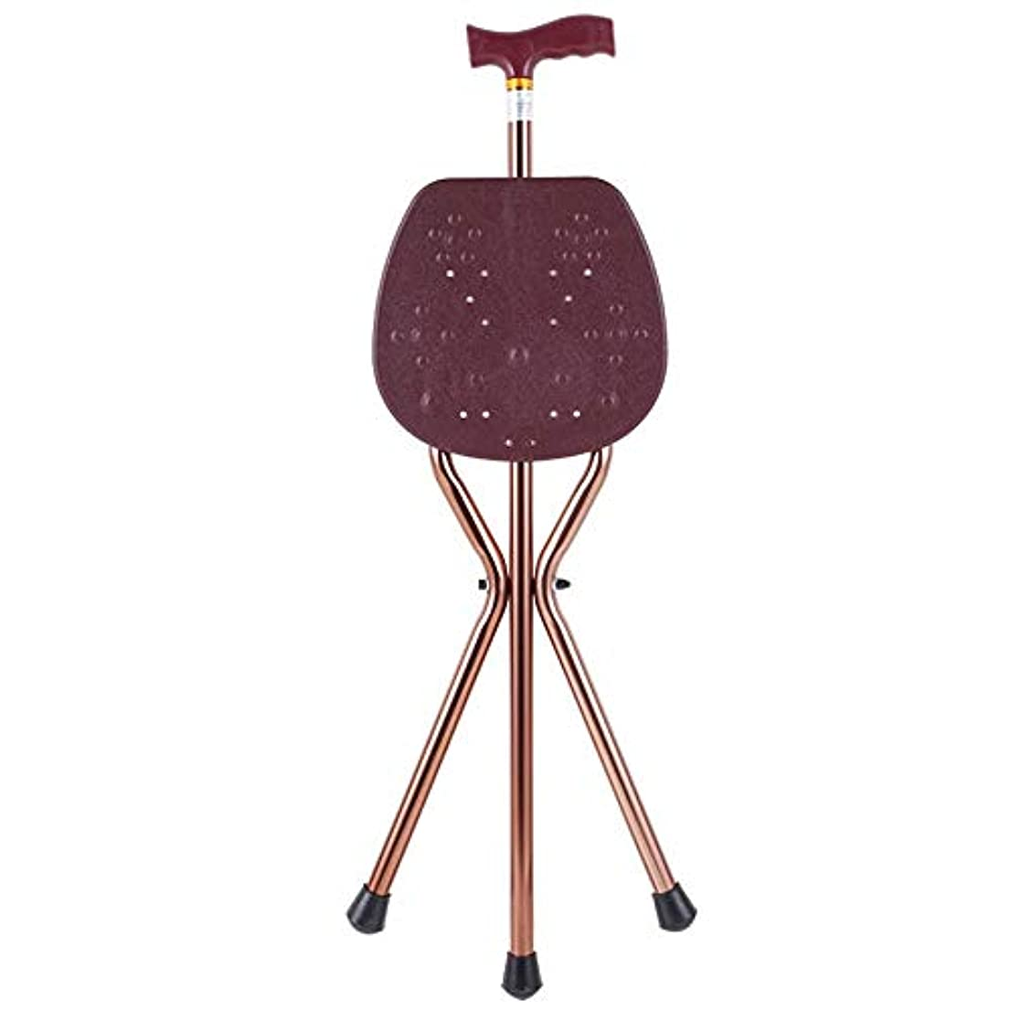 前述の憤る一月アルミ合金古い杖スツールレジャー折りたたみ杖ライトポータブル三角スツール杖椅子