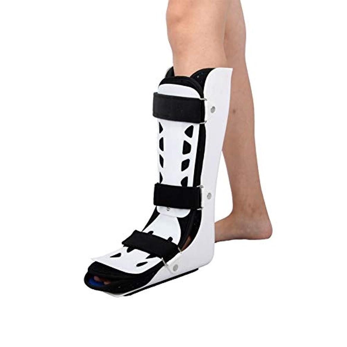 流体風始まり足首サポート アキレス、大人の足首とアキレス腱を骨折し、歩行時の通気性を訓練します。足首を固定します。 (Color : 左, Size : L)