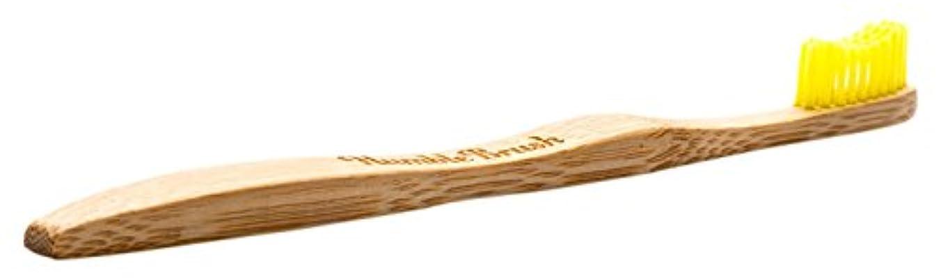 サージ処理するオープナーTHE HUMBLE CO.(ザ?ハンブル?コー) HUMBLE BRUSH(ハンブルブラッシュ) 歯ブラシ 大人用 ブルー イエロー 19cm
