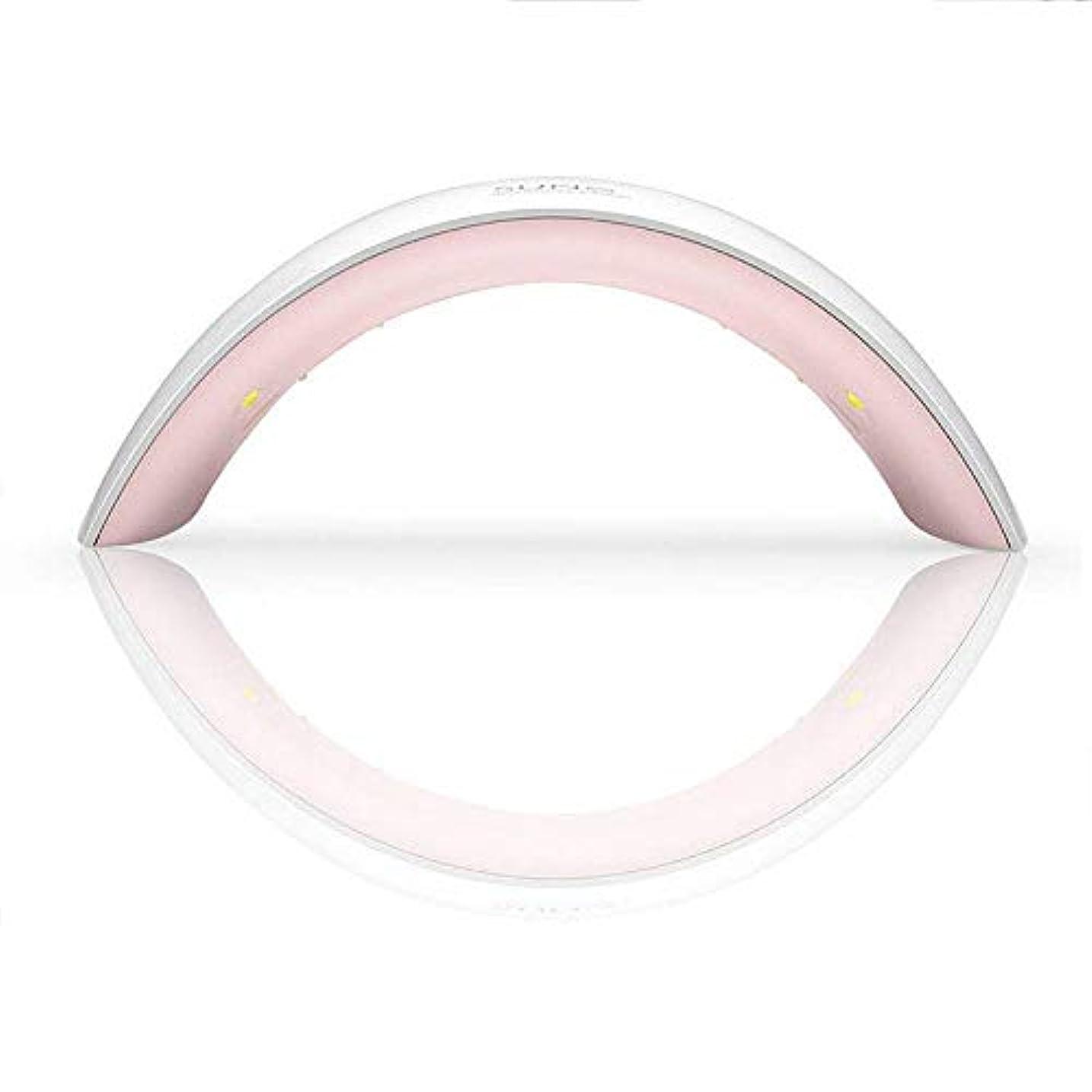 感謝祭バーマドラメプロの手ネイルマシン24ワットサン誘導ネイル光線療法機スマートネイル光線療法ランプ、ホワイト (Color : White)