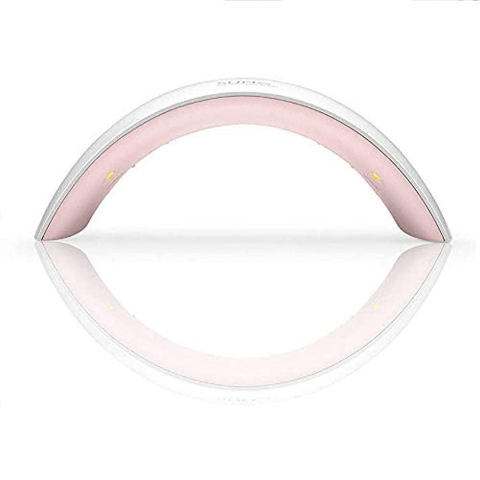 異邦人博覧会高くプロの手ネイルマシン24ワットサン誘導ネイル光線療法機スマートネイル光線療法ランプ、ホワイト (Color : White)