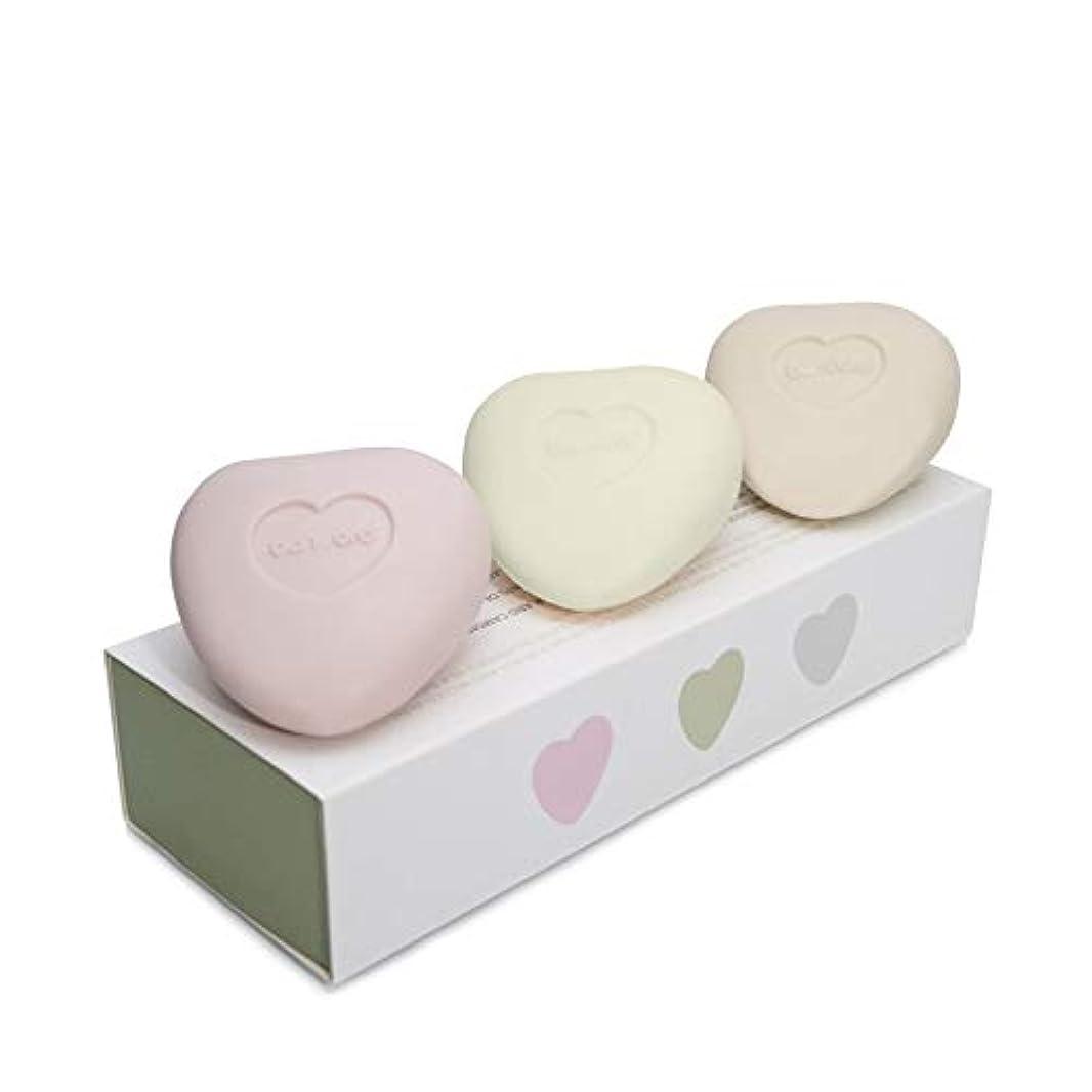 荒れ地ポルトガル語輝度[Bamford ] バンフォードミニ小石の心ソープセット - Bamford Mini Pebble Heart Soap Set [並行輸入品]