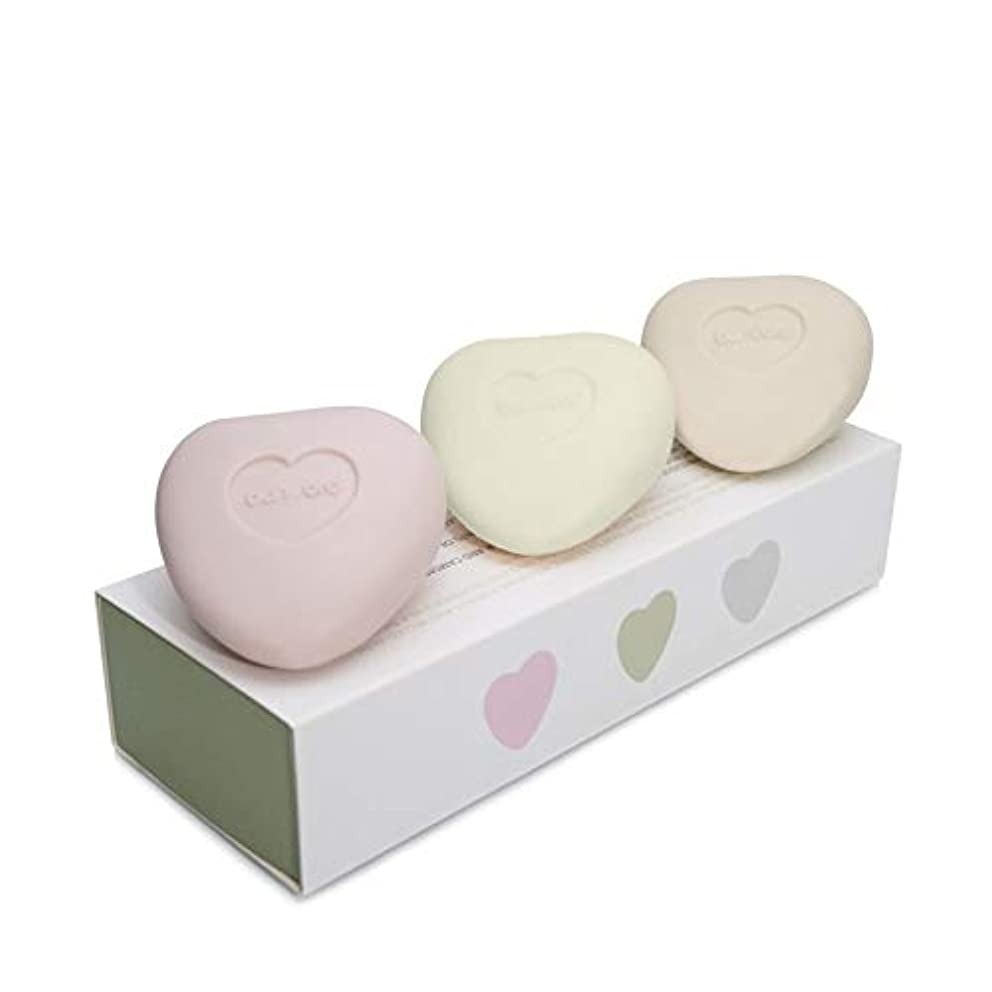 フラッシュのように素早く九時四十五分請負業者[Bamford ] バンフォードミニ小石の心ソープセット - Bamford Mini Pebble Heart Soap Set [並行輸入品]