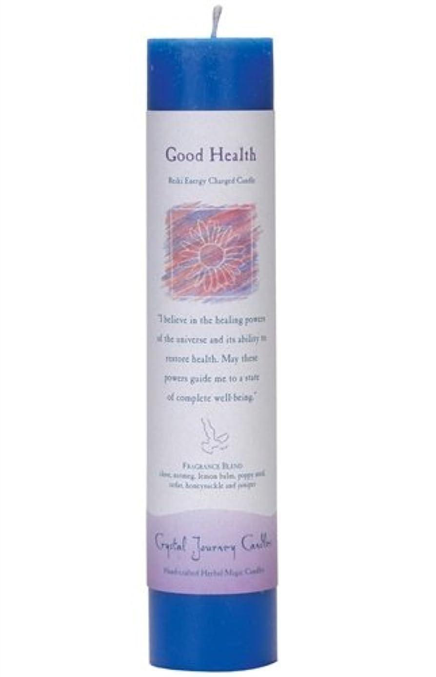 泣き叫ぶ最小化する市長Crystal Journey Herbal Magic Pillar Candle - Good Health by Crystal Journey