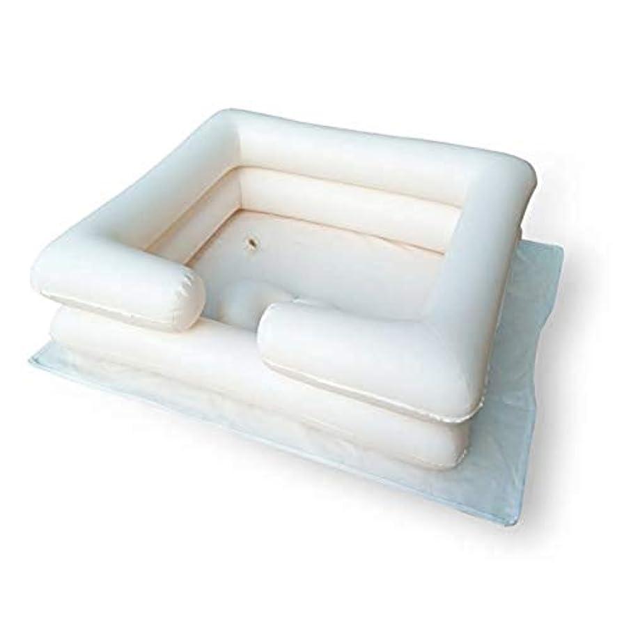 それに応じて政治結婚膨脹可能なシャンプーの洗面器の入浴用具-ベッドの毛を洗いなさい