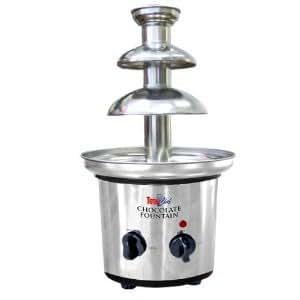 トータルシェフ 2段階タワー チョコレートファウンテン Total Chef TCCSF-02 Stainless-Steel 2-Tier Chocolate Fountain