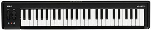 KORG 定番 USB MIDIキーボード microKEY2-49 音楽制作 DTM 省スペースで自宅制作に最適 すぐに始められるソフトウェアライセンス込み ダンパーペダル使用可 49鍵